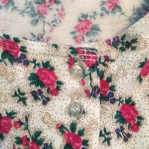 Maggie Lawrence Tops - Maggie Lawrence Pink Roses Tank Top size S